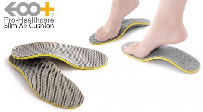 足の負担を軽減してくれるスリムエアークッションインソール