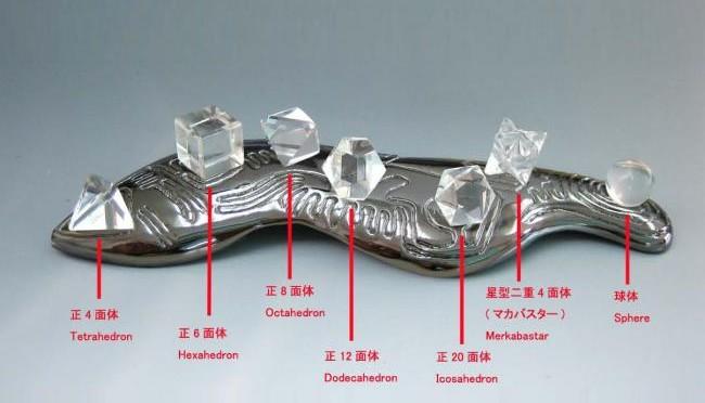 天然水晶が7つもついている!EOO+プラトン立体!